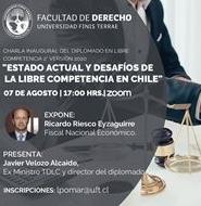 Con clase magistral del Fiscal Nacional Económico, Ricardo Riesco Eyzaguirre, se inaugurará Diplomado en Nuevas Tendencias de Libre Competencia de la U. Finis Terrae.