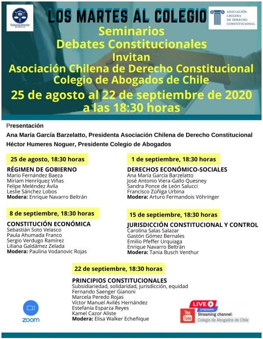 Los martes al Colegio. Seminarios Debates Constitucionales.