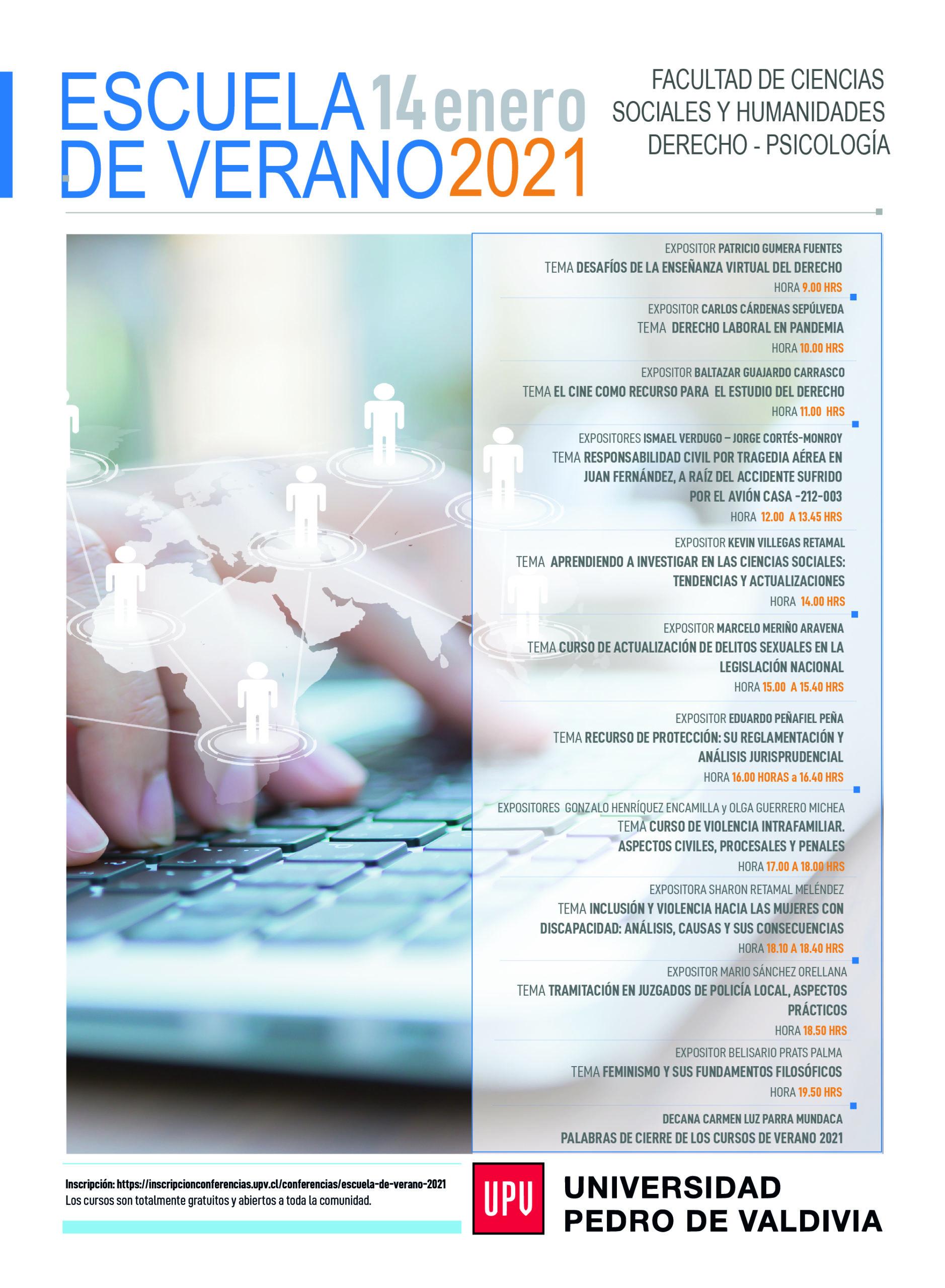 Escuela de verano 2021: Universidad Pedro de Valdivia