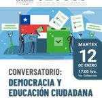 """Conversatorio: """"Democracia y Educación Ciudadana""""."""