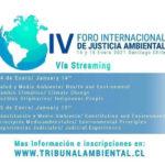 Segundo Tribunal Ambiental invita a inscribirse en el IV Foro Internacional de Justicia Ambiental.