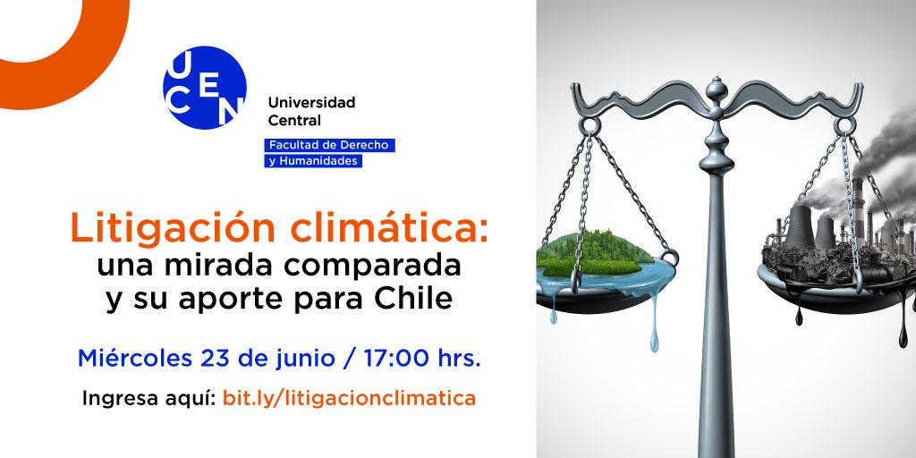 UCEN realizará seminario sobre litigación climática.