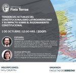 """Facultad de Derecho U. Finis Terrae organiza conferencia """"Tendencias actuales del constitucionalismo latinoamericano y su impacto sobre el razonamiento constitucional""""."""