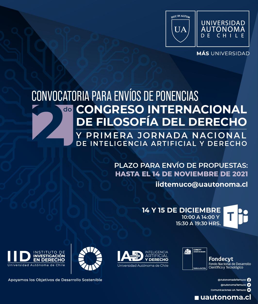 II Congreso Internacional de Filosofía del Derecho y I Jornada Nacional de Inteligencia Artificial y Derecho.